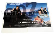 Licence To Kill (1989) Film Poster. UK Quad