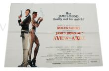 A View To A Kill (1985) Film Poster. UK Quad