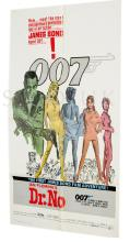 Dr. No (1962, R-1980s) Film Poster. US One