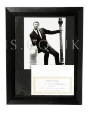 George Lazenby Autographed Photo. Signed index