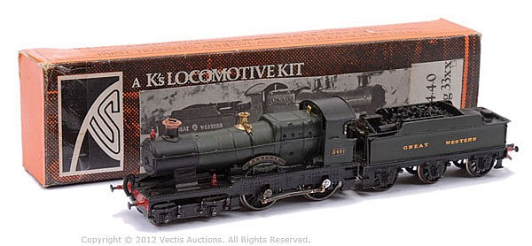 Constructed OO Kit with motor of a 4-4-0
