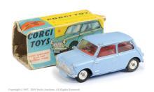 Corgi No.226 Morris Mini Minor - sky blue, red