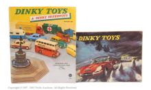 PAIR inc Dinky catalogue - 1957 with shop stamp