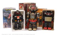 GRP inc 3 large battery operated plastic Robots