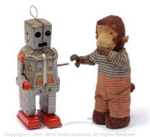 PAIR inc Clockwork Robot & Monkey - clockwork