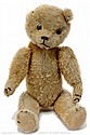 American golden mohair Teddy Bear, 1920s, black