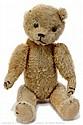 American golden mohair Teddy Bear, 1920s, black