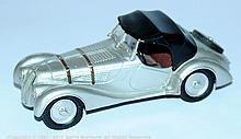 White metal (Malaysian made) BMW Sports Car