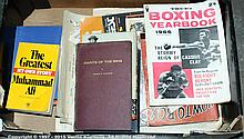 QTY inc Boxing related Books and magazines Black