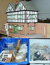 Dolls House and accessory - kit made wooden