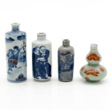 Lot of 4 China Porcelain Snuff Bottles