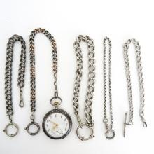 Diverse Lot with Pocket watch and Watch Chains