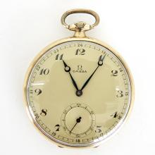 14KG Mens Omega Pocket Watch