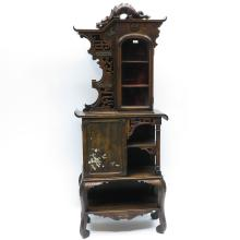 A Fine Carved Asian Etagere Cabinet Circa 1900