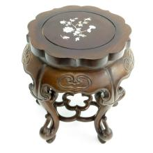 Chinese Carved Side Table with Mother of Pearl
