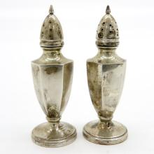 Alvin Silver Salt and Pepper Shakers