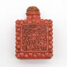 Red Laquer Snuff Bottle