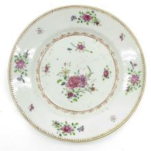 18th Century Famille Rose Plate