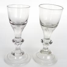 Lot of 2 18th Century Ship Glasses