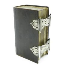 19th Century Bible with Silver Clasp
