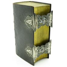 19th Century Bible with Double Silver Clasp