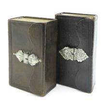Lot of 2 Bibles with Silver Lockers