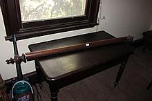 Antique Australian cedar curtain rod, approx 173cm