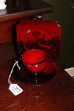 Royal Doulton Flambe cup and saucer