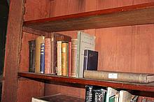 Part Shelf, selection of antique books, Religious