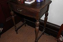 Vintage oak hall table