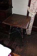 Antique square top gypsy table