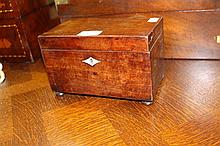 Antique Georgian two section caddy with bun feet