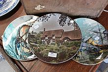 Three Royal Doulton cabinet plates to include Anne