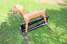 A primitive homemade Childs rocking horse