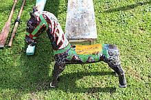 An old painted Childs carousel horse