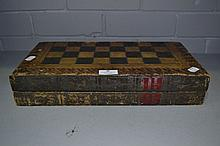 Vintage Backgammon board game box in the form of
