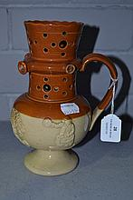 Antique Harvest puzzle jug, approx 20cm H