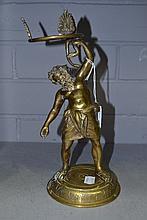 Antique polished Bronze Renaissance style figure