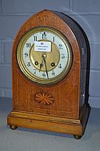 Antique Sheraton revival mantel clock, no key or