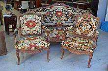 Antique French Louis XV style three piece suite