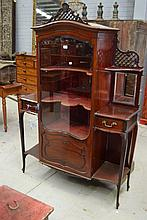 Early 20th century Mahogany display cabinet,
