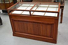 Wooden counter display cabinet, approx 100cm H x