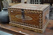 Bone inlaid box, appro 45cm H x 80cm W x 50cm D