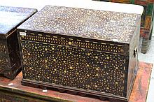 Bone inlaid box, approx 36cm H x 60cm L x 39cm D