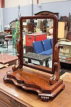 Antique mahogany toilet mirror