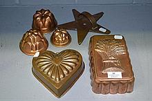 Assortment of moulds heart, star, wheat etc