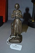 Spelter figure of