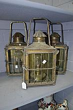 Three French lanterns, each approx 43cm H (3)