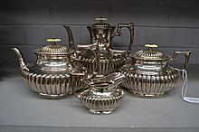James Dixon and Sons four piece tea service (4)