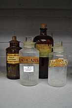 Four Antique Chemist bottles, approx 25cm H and